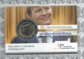 "Nederland 2 euromunt CC 2013 ""Troonswisseling"" (in Coincard UNC)"