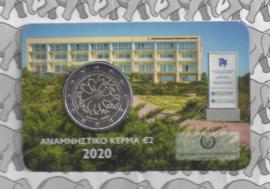 "Cyprus 2 euromunt CC 2020 (5e)""30 Jaar Neurogenetica Instituut"", in coincard"