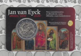 "België 2 euromunt CC 2020 (25e) ""Jan van Eyck jaar"" in coincard Franse versie"