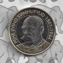"Finland 5 euromunt 2016 (53e) ""Presidenten, Svinhufvud"""