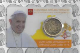 Vaticaan 50 eurocent 2017 in coincard, nummer 8