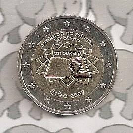 "Ierland 2 euromunt CC 2007 (1e)""Verdrag van Rome"""