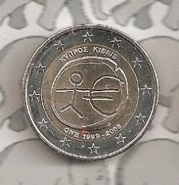 "Cyprus 2 euromunt CC 2009 (1e)""EMU"""