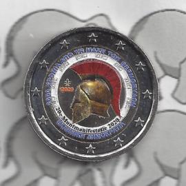 """Griekenlans 2 euromunt CC 2020 """"2500 Jaar na de Slag bij Thermopylae"""" (kleur, in capsule)"""