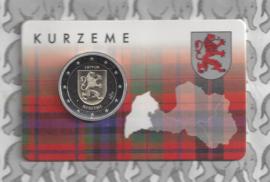 """Letland 2 euromunt CC 2017 """"Provincie Kurzeme"""" (in coincard)"""