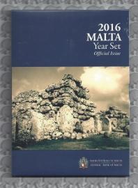 """Malta BU set 2016 """"Megalithische tempels van Ggantija"""". 2 euromunt met muntteken van Monnaie de Paris."""
