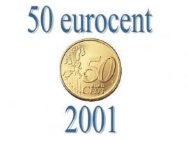 België 50 eurocent 2001