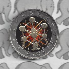 """België 2 euromunt CC 2006 """"Atomium"""" (kleur 1)"""