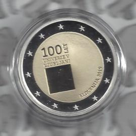 """Slovenië 2 euromunt CC 2019 """"100 Jaar na de oprichting van de Universiteit van Ljubljana"""", proof in capsule"""