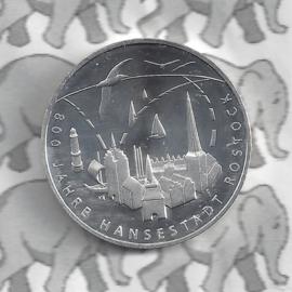 "Duitsland 20 euromunt 2018 (13e) ""800 Jahre Hansestadt Rostock"", zilver"