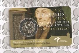 "Nederland 2 euromunt CC 2011 ""Erasmus"" (in coincard)"