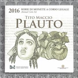 """Italië BU set 2016 """"Plauto"""" (9 munten)"""