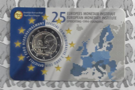 "België 2 euromunt CC 2019 ""25 Jaar Europees Monetair Instituut (EMI)"" in coincard Nederlandse versie"