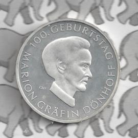 "Duitsland 10 euromunt 2009 (44e) ""100e Verjaardag Marion Gräfin DönhoffDonh"" (zilver)."