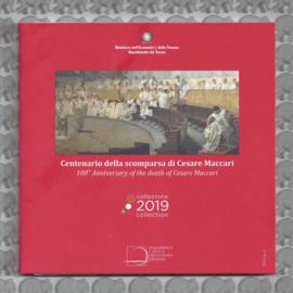 """Italië BU set 2019 """"100e herdenkingsjaar van de dood van Cesare Maccari"""", inclusief 5 euromunt."""