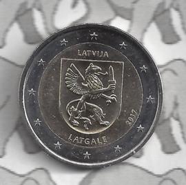 """Letland 2 euromunt CC 2017 (8e)""""Provincie Latgale"""""""