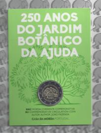 """Portugal 2 euromunt CC 2018 """"250-jarig bestaan van de Botanische Tuinen van Ajuda"""" BU in blister"""