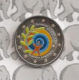 """Griekenland 2 euromunt CC 2011 """"Olympische spelen"""" (kleur 1e)"""