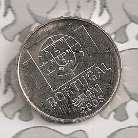 """Portugal 1,5 euromunt 2008 """"Tegen de onverschilligheid"""""""