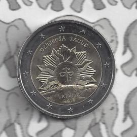 "Letland 2 euromunt CC 2019 ""Zonsopgang; het wapen van Letland"""