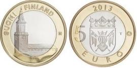 "Finland 5 euromunt 2013 (24e) ""Turku, kathedraal"""