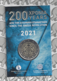 "Griekenland 2 euromunt CC 2021 (23e) ""200 Jaar Griekse Revolutie"", in blister"