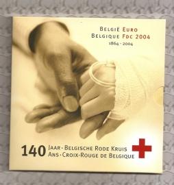 """Belgié BU set 2004 """"140 Jaar Belgisch Rode Kruis"""""""