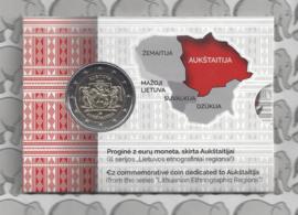 """Litouwen 2 euromunt CC 2020 (9e) """"Regio Aukštaitija (Opperlitouwen)"""" in coincard"""