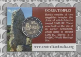 "Malta 2 euromunt CC 2020 ""Tempel van Skorba"", in coincard"