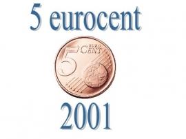 Frankrijk 5 eurocent 2001
