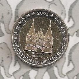 """Duitsland 2 euromunt CC 2006 """"Holstentor"""""""