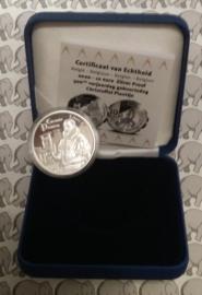"""België 10 euromunt 2020 """"500 jaar Christoffel Plantijn"""", proof, zilver in blauw doosje met certificaat"""