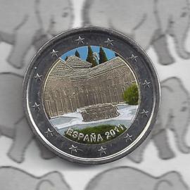 """Spanje 2 euromunt 2011 """"Alhambra in Granada"""" (kleur 2 x)"""