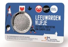 "Nederland 5 euromunt 2018 (37e) ""Leeuwarden vijfje"" (BU, met nummer in coincard)"