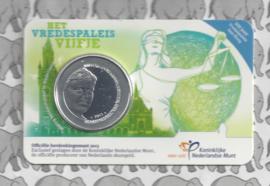 """Nederland 5 euromunt 2013 (26e) """"Vredespaleis"""" (BU met verkeerde voorkant)"""