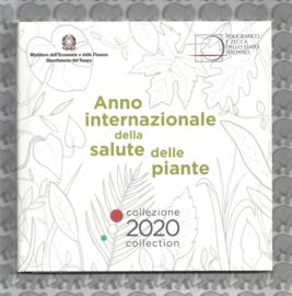 """Italië BU set 2020 met 5 euromunt """"Internationaal jaar van de plantengezondheid"""""""