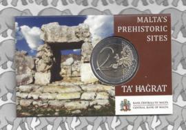 """Malta 2 euromunt CC 2019 """"Megalithische tempels van Ta Hagrat"""", in coincard"""