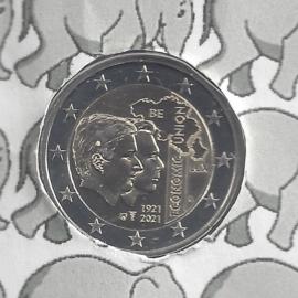 """België 2 euromunt CC 2021 (26e) """"100 jaar Belgisch-Luxemburgse Economische Unie"""""""