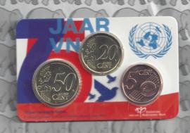 """Nederland coincard 2020 """"75 jaar Verenigde Naties"""""""