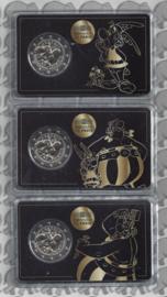 "Frankrijk 3 x 2 euromunt CC 2019 ""Asterix"", in 3 verschillende coincards"