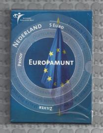 """Nederland 5 euromunt 2004 """"Europamunt vijfje"""" (zilver, proof in blister)"""