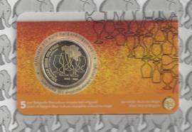"""België 2,5 euromunt 2021 """"5 jaar Belgische Biercultuur immaterieel erfgoed"""" in coincard Nederlandse versie"""