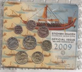 Griekenland BU set 2009 + 2 € stier