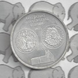 "Duitsland 10 euromunt 2009 (42e) ""600 Jaar Universiteit Leipzich"" (nikkel)."