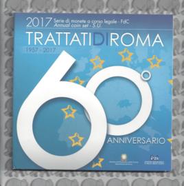 """Italië BU set 2017 """"60 jaar Verdrag van Rome"""", inclusief 5 euromunt."""