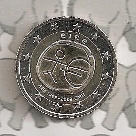 """Ierland 2 euromunt CC 2009 (2e)""""EMU"""""""