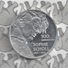 "Duitsland 20 euromunt 2021 (28e) ""100. Geburtstag Sophie Scholl"", zilver"