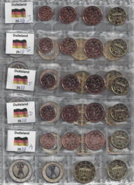Duitsland 5 x UNC serie 2019, letters A, D, F, G en J
