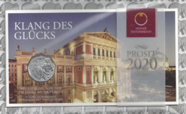 """Oostenrijk 10 euromunt 2020 (37e) """"150 jaar Wiener muziekvereniging"""". Zilver in blister"""