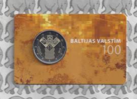 """Letland 2 euromunt CC 2018 """"100 jaar onafhankelijkheid van de Baltische Staten"""" (in coincard)"""